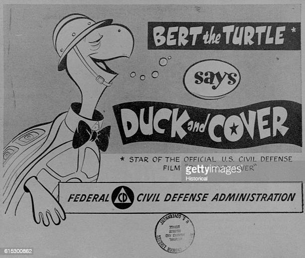 This is a comic treatment of Duck and Cover a 1950 movie that depicts the danger from a Soviet nuclear attack