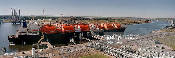 This is a company photo of BG Group Plc's Lake Charles liquefied natural gas import terminal in Louisiana US The UK's third largest gas producer said...
