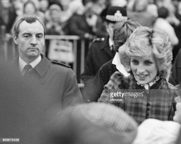 **this is a crop from the fuller wide frame** The Prince and Princess of Wales visit Mid Glamorgan in Wales On this visit they meet the local...