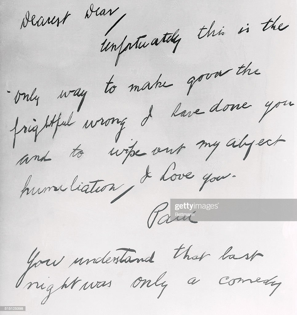 copy of suicide note to jean harlow pictures | getty images