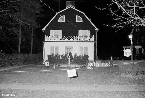 This is a front view of the home of Ronald DeFeo Sr the car salesman his wife two daughters and two sons were found shot to death Ronald DeFeo Jr the...