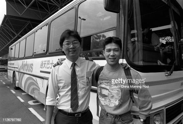 This is a happy ending of Lost and Found Mr Koji Yasumatsu a Japanese tourist posing next to Mr Leung Kwokkei a bus driver of Kowloon Motor Bus...