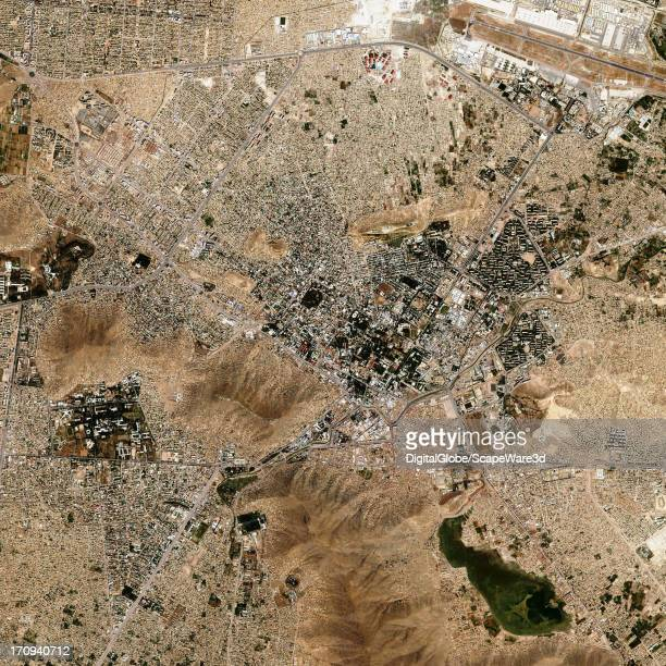 This is a overview satellite image of Kabul in Afganisthan collected on June 25 2012