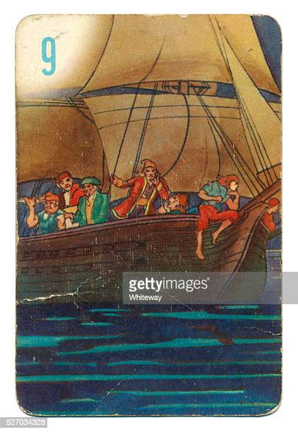 Peter Pan and Wendy Pepys playing card 1930s