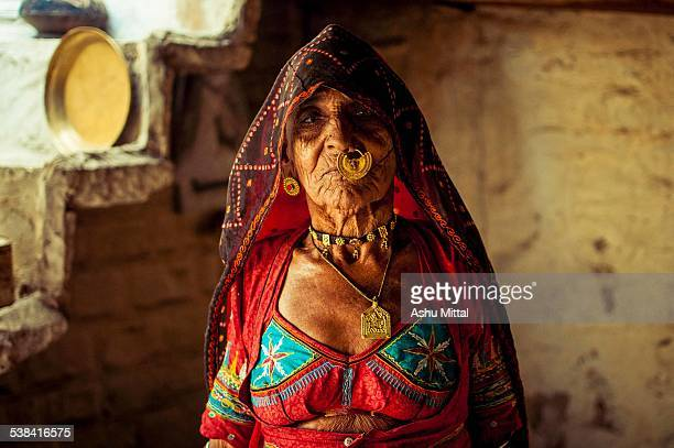 This is a photo of a rural Indian woman seen at Guda Vishnoi, a village close to Jodhpur district in Rajasthan . As I pointed my camera towards her,...