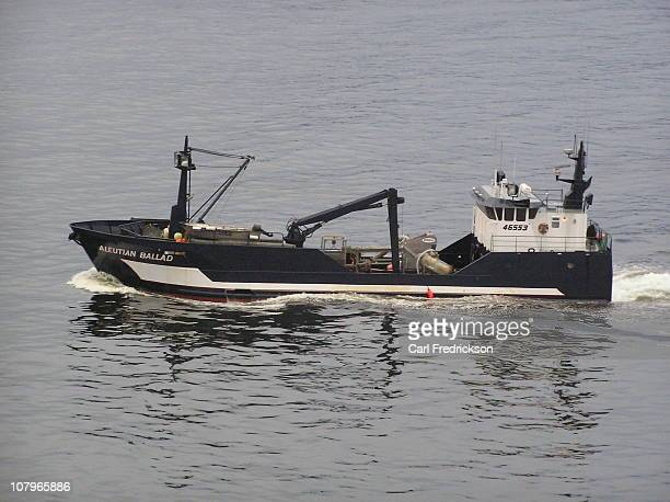 This is a photo of the Aleutian Ballad F/V Unknown to me at the time but this vessel is a part of the The Deadliest Catch series on Discovery Channel...