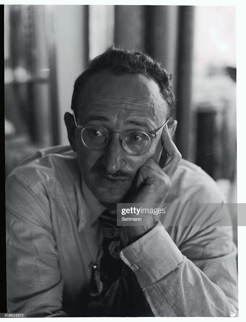 Portrait of Sidney Hook Wearing Eyeglasses : News Photo