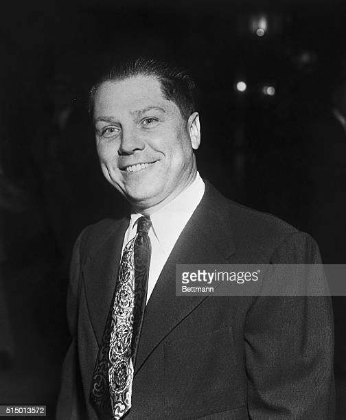 This is a portrait of James R Hoffa of the International Teamster's Union