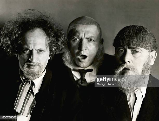 This is a publicity handout of The Three Stooges each wearing a different type of facial hair
