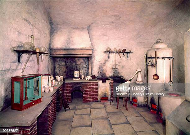 This is a representation of the kind of laboratory in which assayers worked in the mining areas of central Europe in the 16th century It is based on...