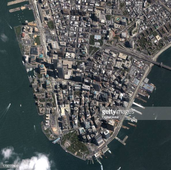 Manhattan To New York City: This Is A Satellite Image Manhattan, New York City, New