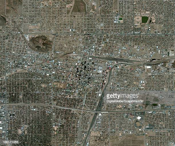This is a satellite image of Amarillo Texas United States collected on October 8 2010