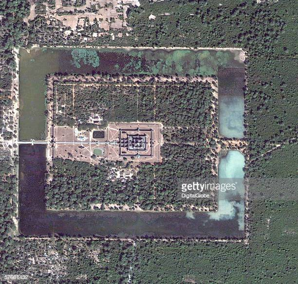 This is a satellite image of Angkor Wat, Cambodia collected on January 6, 2004.