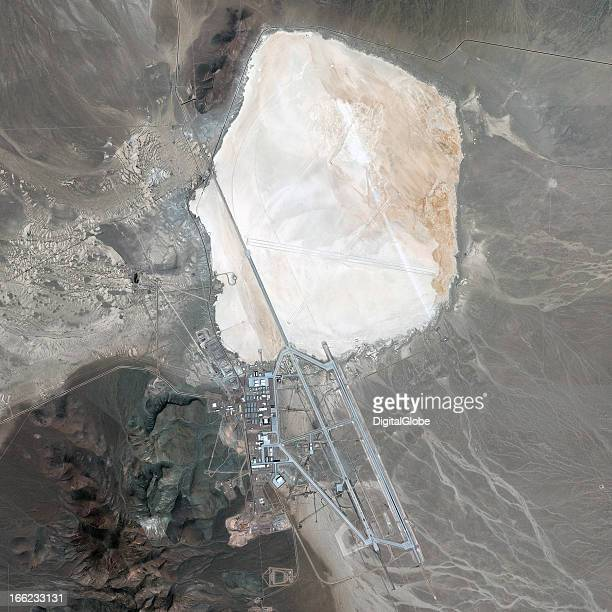 This is a satellite image of Area 51 Southern Nevada United States a remote detachment of Edwards Air Force Base collected on February 26 2013