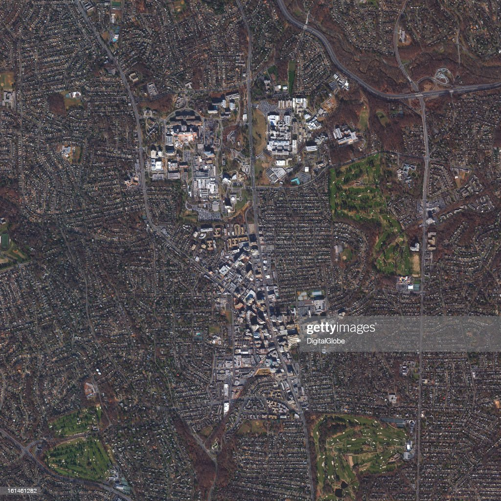 This is a satellite image of Bethesda, Maryland, United States collected on January 10, 2013.