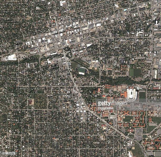 This is a satellite image of Boulder Colorado collected on May 31 2004