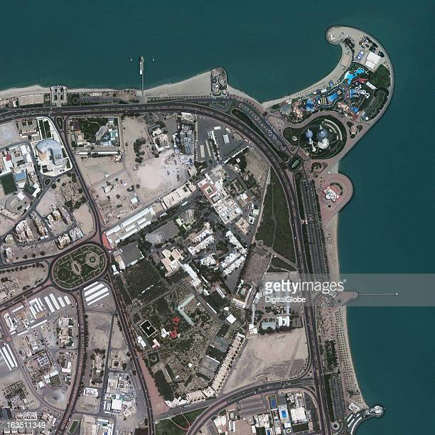 This is a satellite image of Kuwait City Al Asimah Kuwait located on the Persian Gulf Collected on April 25 2009