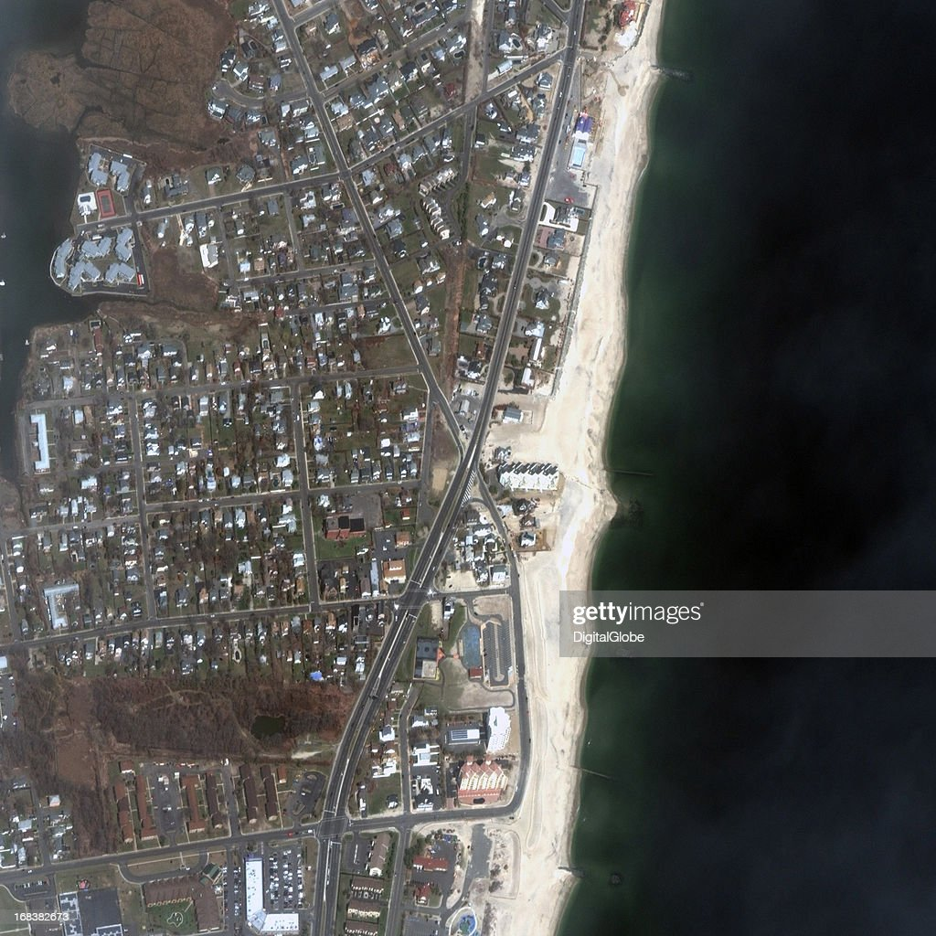 This is a satellite image of Monmouth Beach, New Jersey, United States collected on April 4, 2013.