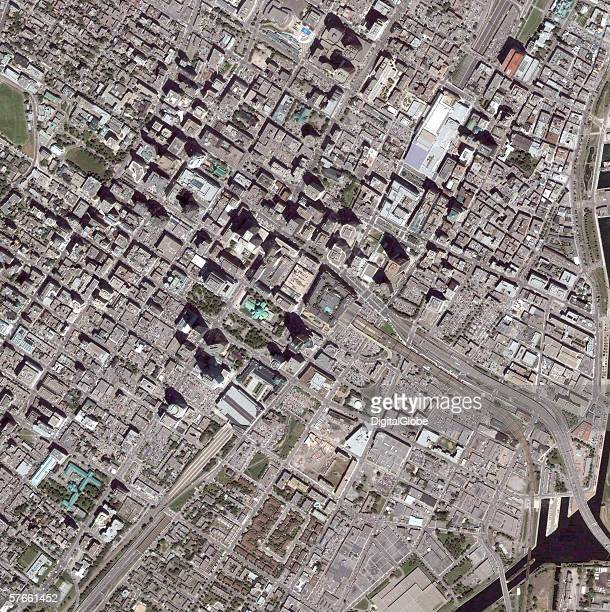 This is a satellite image of Montreal Canada collected on July 15 2005