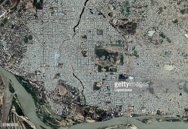 N'DJAMENA CHADSEPTEMBER 15 2005 This is a satellite image of N'Djamena Chad collected on September 15 2005