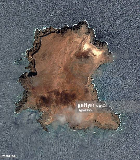 This is a satellite image of Selveagens Island Maderia Spain