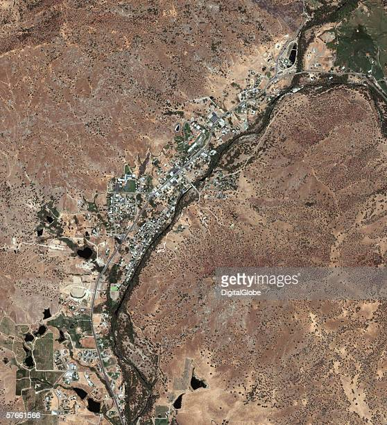 This is a satellite image of Springvile, California collected on July 10, 2004.