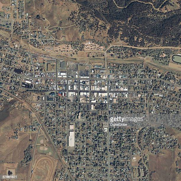 This is a satellite image of Sturgis South Dakota collected on August 9 2003 during the annual Harley Davidson rally