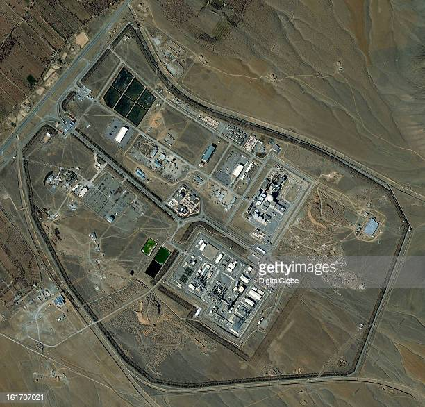 This is a satellite image of the Arak Nuclear Reactor in Iran collected on February 9, 2013.