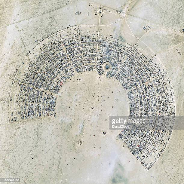 This is a satellite image of the Burning Man festival in Nevada United States collected on August 28 2012 This image is the winner for the 2012 Top...