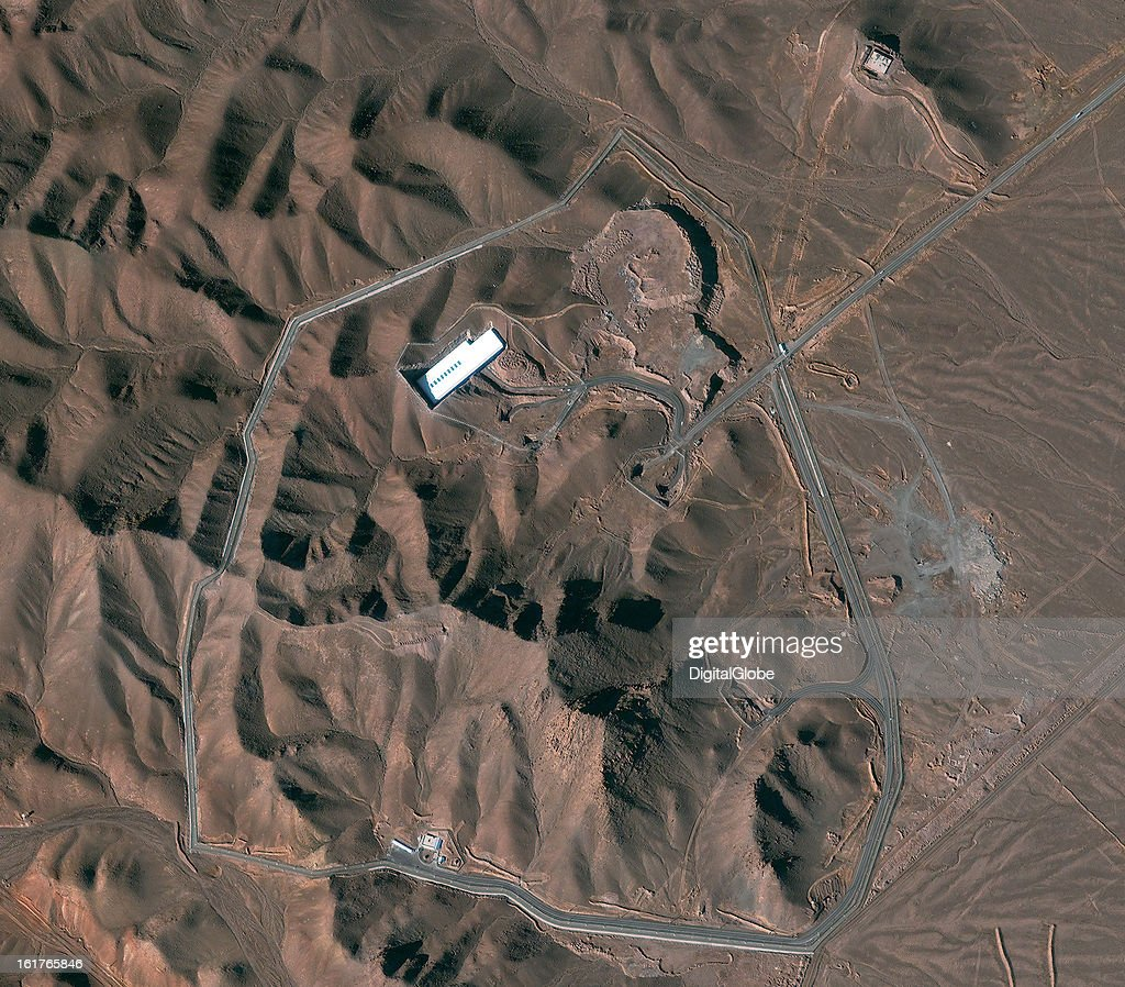 This is a satellite image of the Fordow facility in Iran.