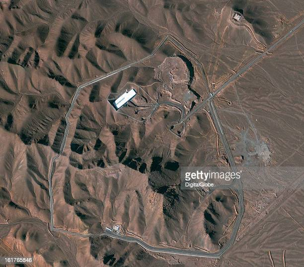 This is a satellite image of the Fordow facility in Iran
