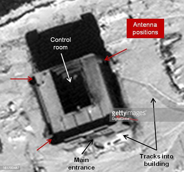 This is a satellite image of the new control building under construction at the Tonghae facility in North Korea...