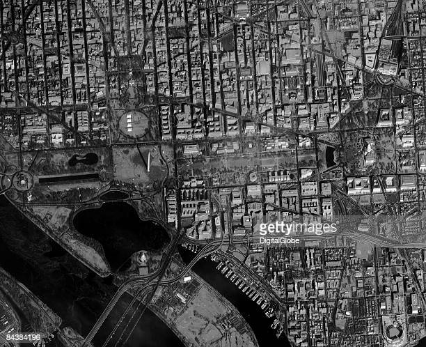 This is a satellite image of the of Washington DC during the inauguration of President Obama on January 20 2009 at 1107 am EST in Washington DC...