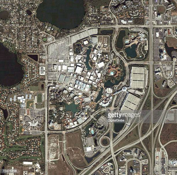 This is a satellite image of the Universal City Walk in Orlando Florida collected on January 18 2005