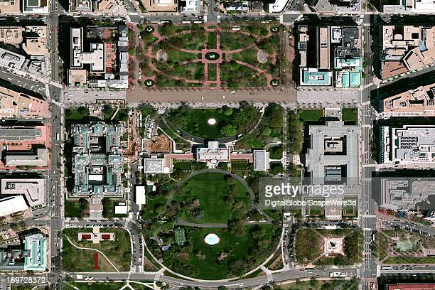 This is a satellite image of the White House in Washington DC collected on April 14 2011
