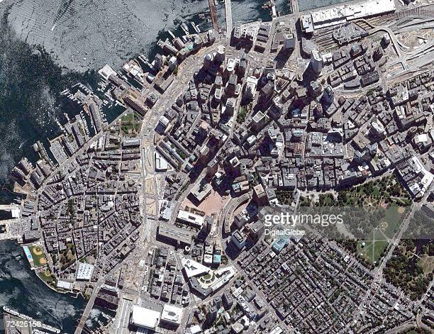 This is a satellite overview image of Boston Massachusetts collected on September 2 2005