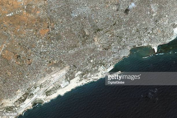 This is a satellite photo of Mogadishu Somalia collected on March 28 2006