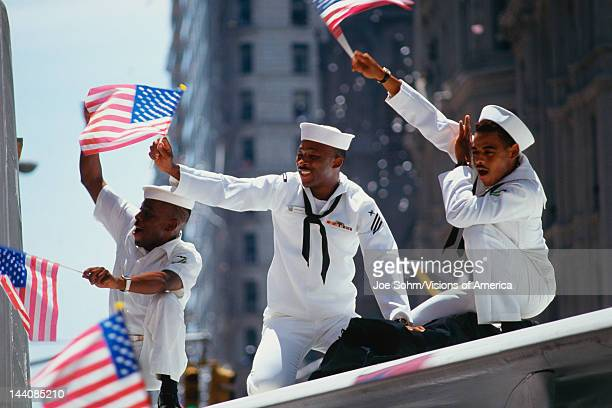 This is a Ticker Tape Parade showing the Desert Storm Victory Parade It took place in the Canyon of Heroes where about 47 million people attended...