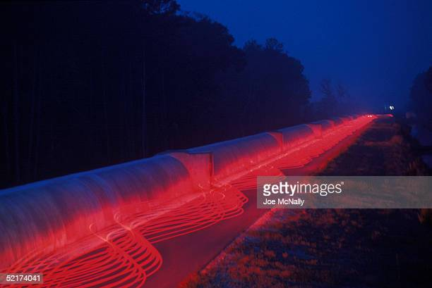 This is a timeexposure representation of the Laser Interferometer GravitationalWave Observatory where scientists hope to detect gravitational waves...