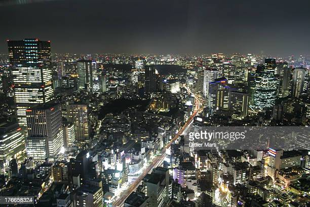 CONTENT] This is a view from Roppongi Hills complex The big building on the left in Roppongi Midtown The area with all the lights in the front is the...
