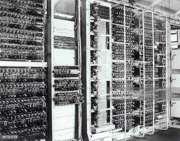 This is a view of Colossus the world's first electronic programmable computer at Bletchley Park in Buckinghamshire Bletchley Park was the British...
