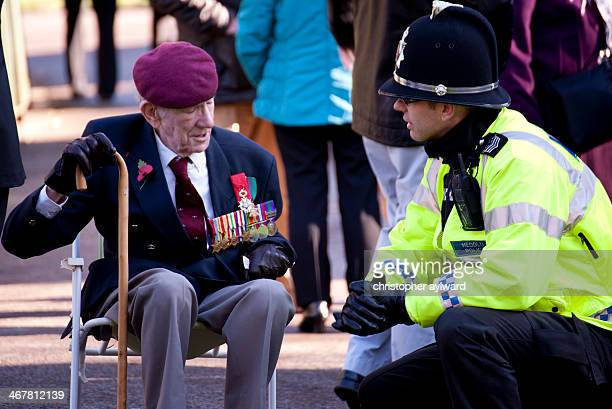 CONTENT] This is a war veteran at the remembrance day memorial ceremony in Ynysyngharad park Pontypridd Here the old man sits on his chair as he is...