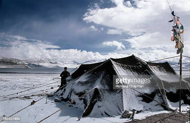 This is a winterproof tent...made of yakhair which is guaranteed to be waterproof, but believe me, what tibetan nomads call waterproof is not quite...