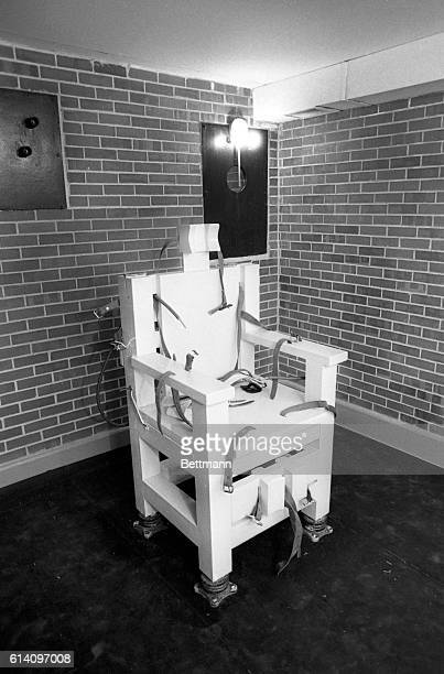 This is Alabama's electric chair 'Yellow Momma' in inmate lingo in Holman Prison Convicted of the 1977 robberymurder of a Mobile Alabama pawnbroker...