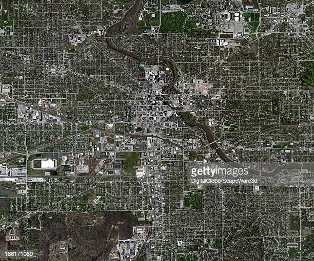 This is an aerial image of South Bend, Indiana, United States collected on April 29, 2011.