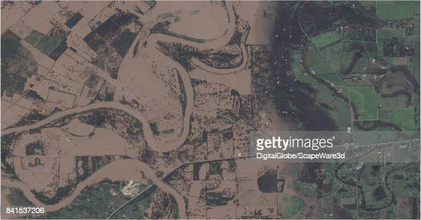 This is an after DigitalGlobe via Getty Images satellite imagery of Simonton Texas before Hurricane Harvery