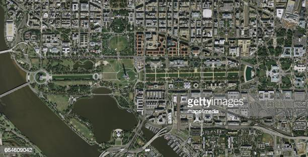 This is an enhanced aerial imagery of the National Mall in Washington DC
