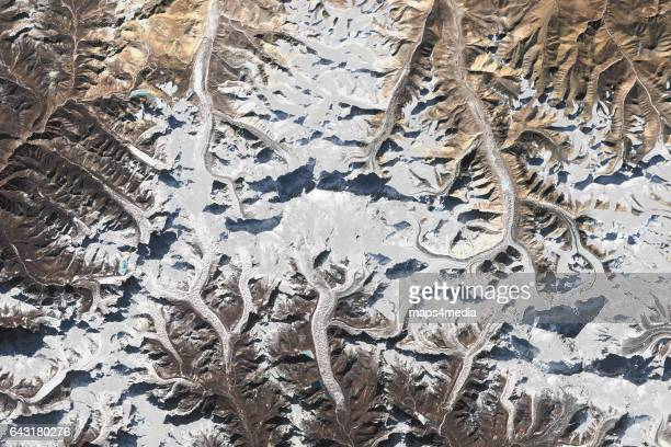 This is an enhanced Sentinel satellite image of the Mount Everest