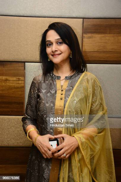 Mrinal kulkarni stock photos and pictures getty images this is an exclusive image of hindustan times marathi actor mrinal kulkarni poses during an exclusive thecheapjerseys Image collections