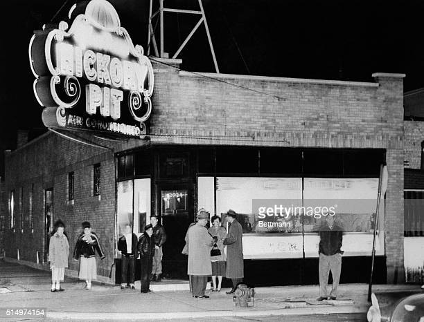 This is an exterior view of the South Side restaurant in Chicago outside of which Alex 'Louie' Greenberg a financier of Capone mob business ventures...